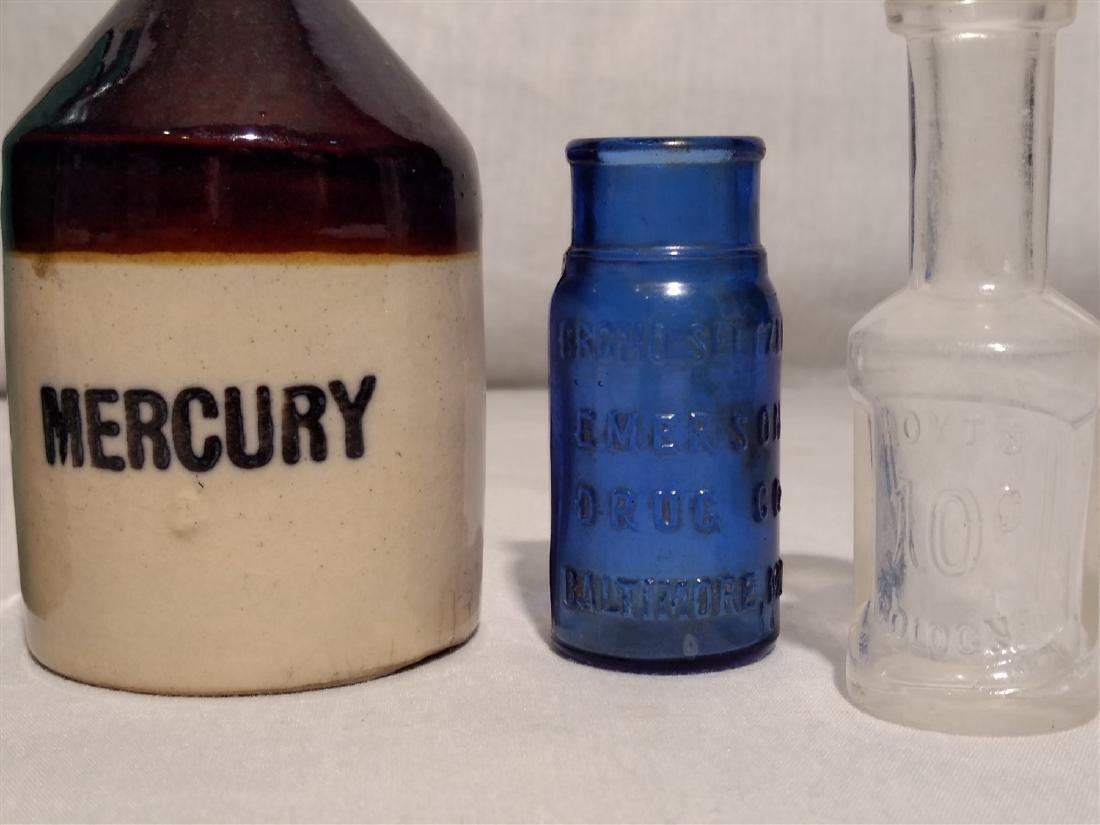 Antique Apothecary Bottles and Ink Wells - 2