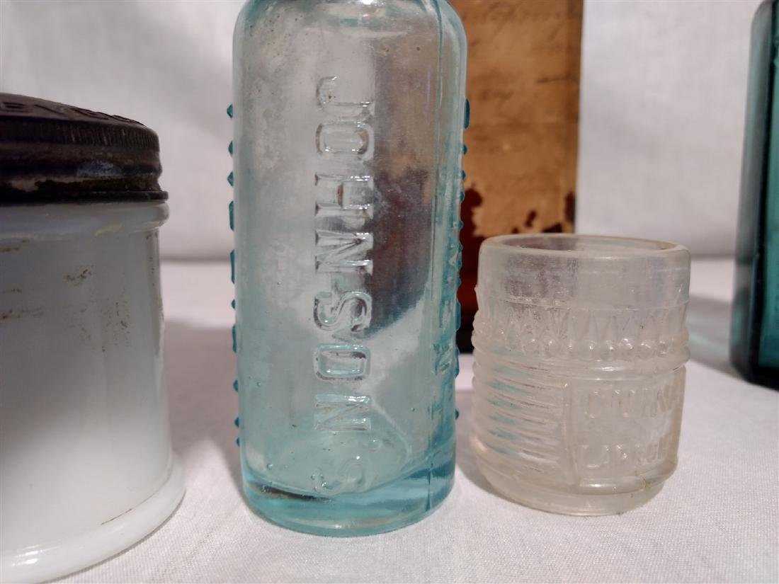 Antique Apothecary Bottles and Ink Wells - 5