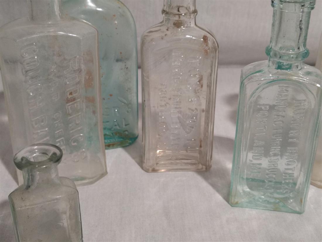 Antique Apothecary Bottles, RR Lantern Blue Lens Glass - 4