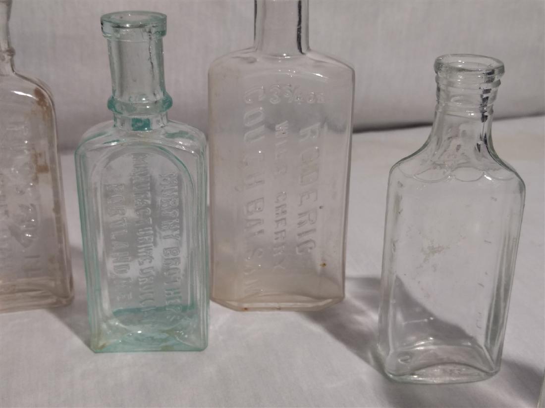 Antique Apothecary Bottles, RR Lantern Blue Lens Glass - 5