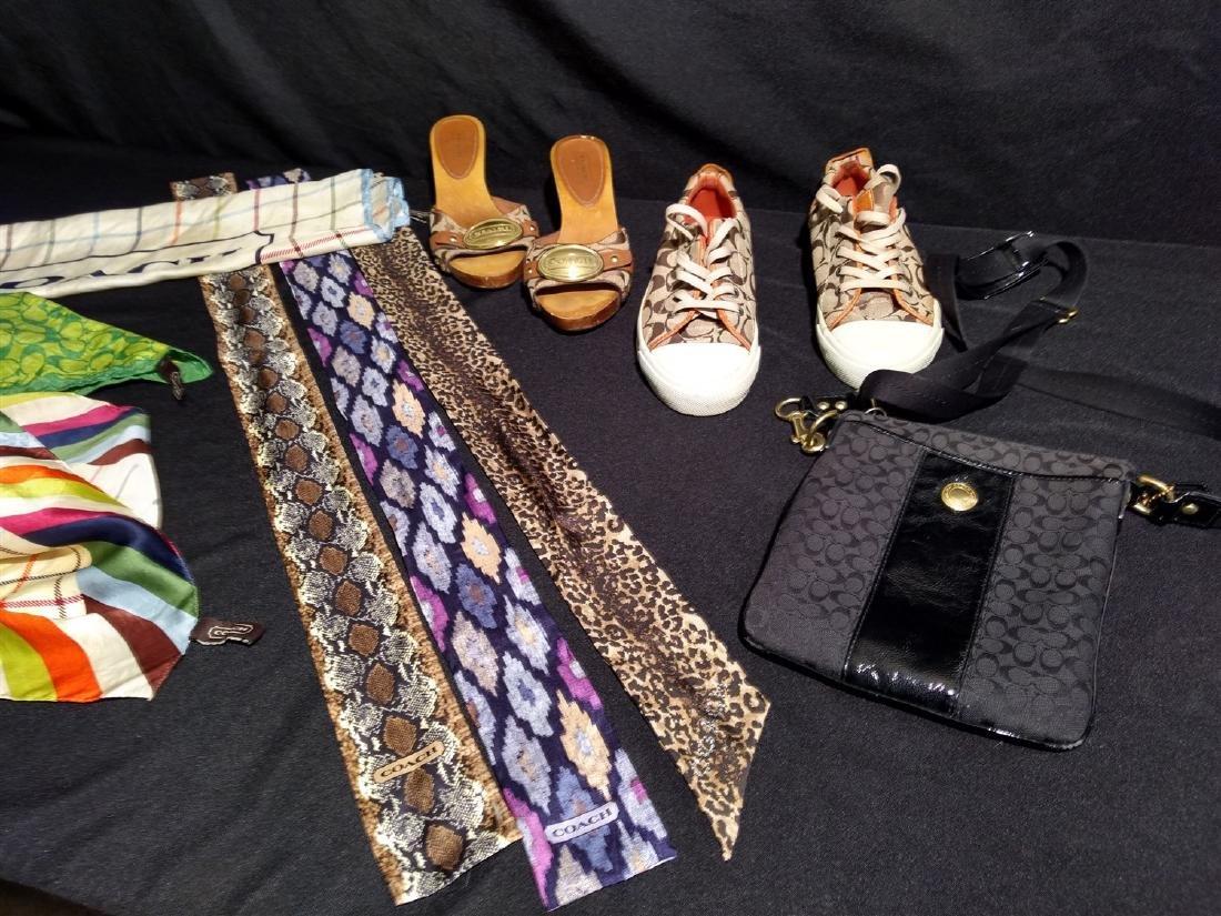 Coach designer lot. Scarves,Shoes,Bag, Silk Headbands, - 2