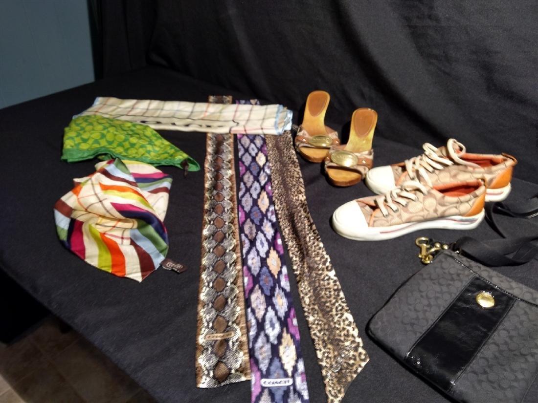 Coach designer lot. Scarves,Shoes,Bag, Silk Headbands, - 3