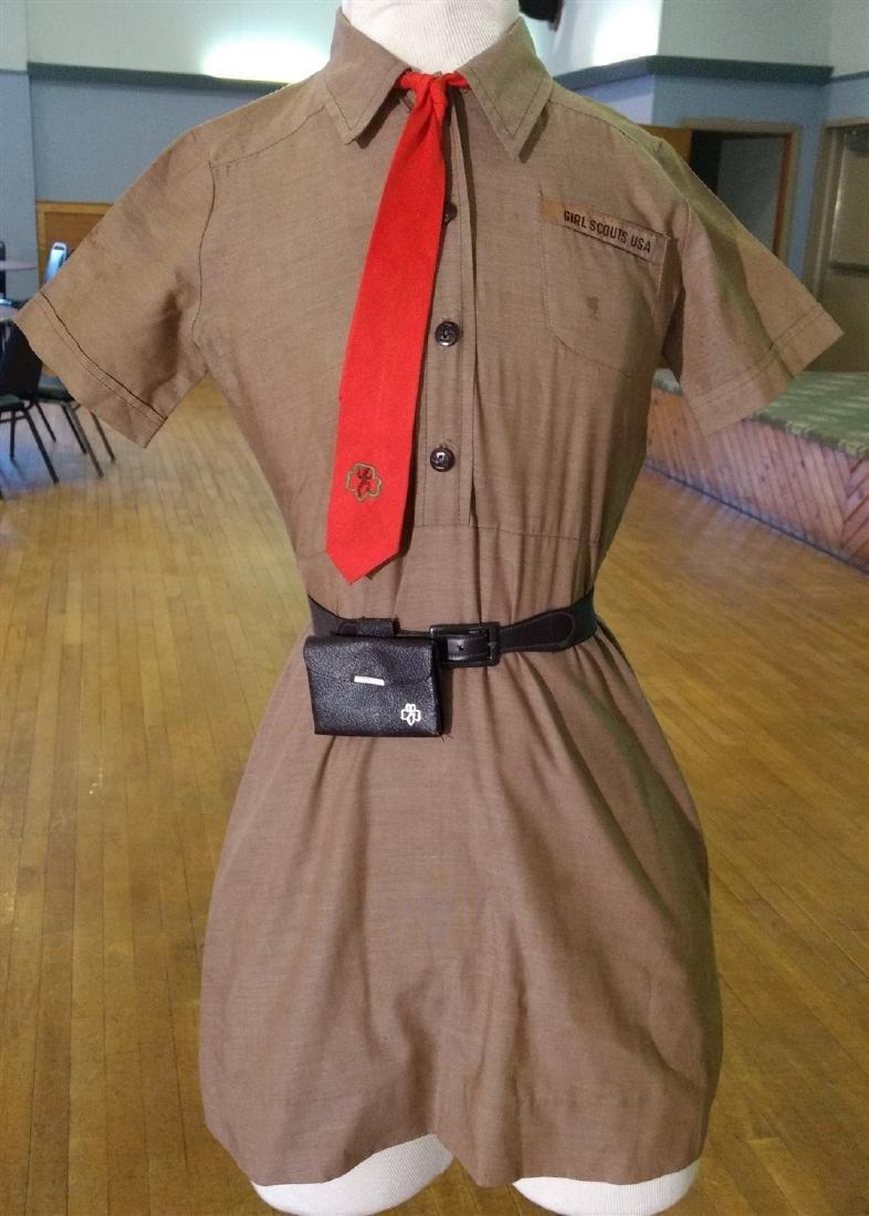 Vintage Clothing. Girl Scout Uniform.