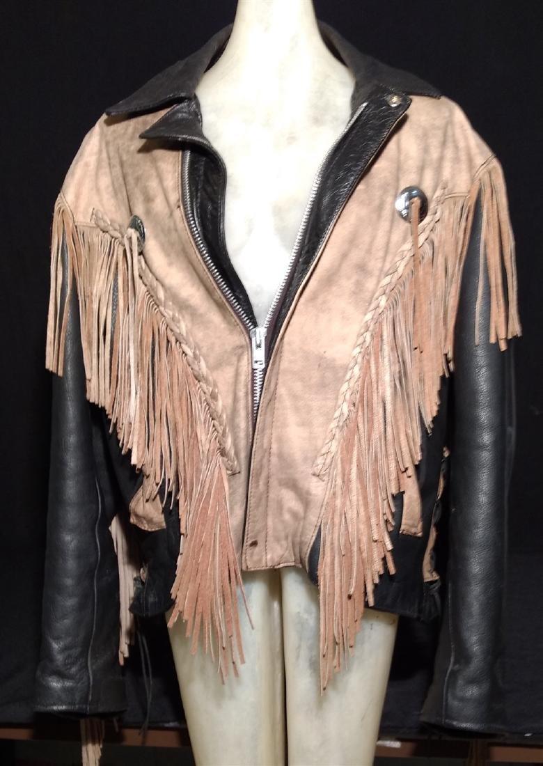 Vintage Clothing.    Leather & Fringe Jacket.