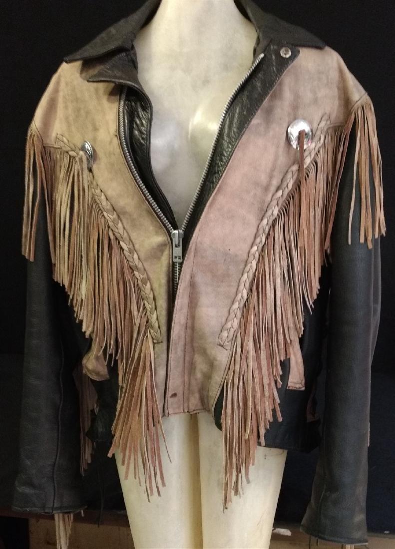 Vintage Clothing.    Leather & Fringe Jacket. - 2