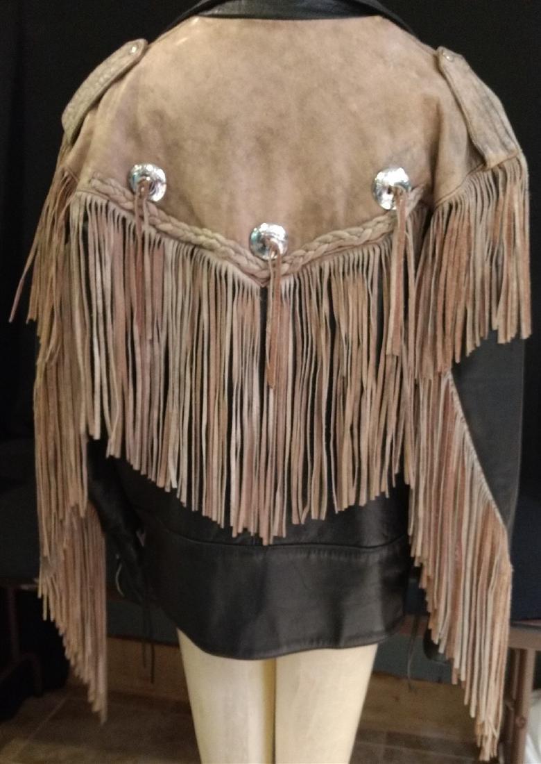 Vintage Clothing.    Leather & Fringe Jacket. - 3