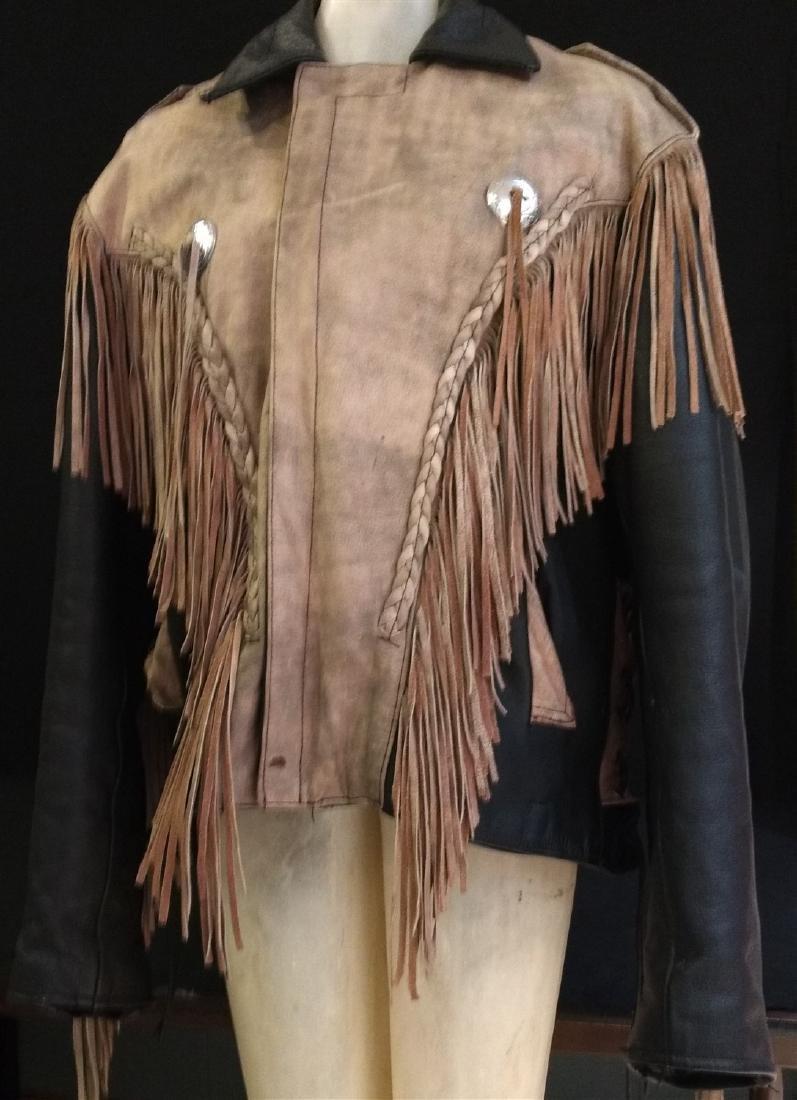 Vintage Clothing.    Leather & Fringe Jacket. - 4