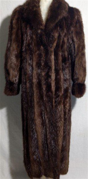 Vintage Clothing. Long Full Length Mink Beaver Fur Coat