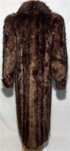 Vintage Clothing. Long Full Length Mink Beaver Fur Coat - 3