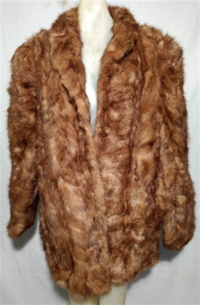 Vintage Clothing Mink Paw Fur Jacket