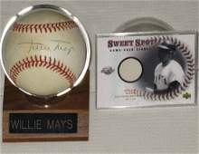 Willie Mays Signed Baseball