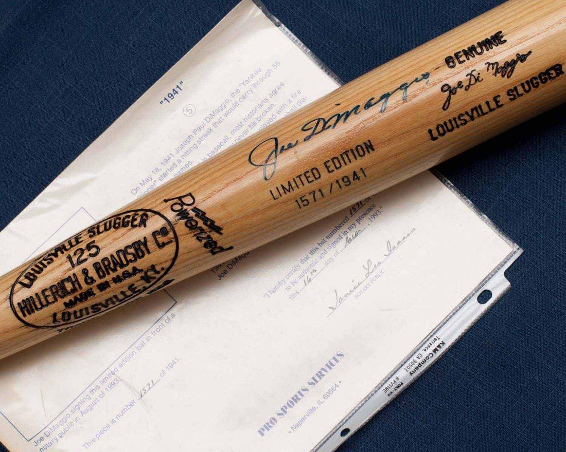 Joe DiMaggio Signed Bat