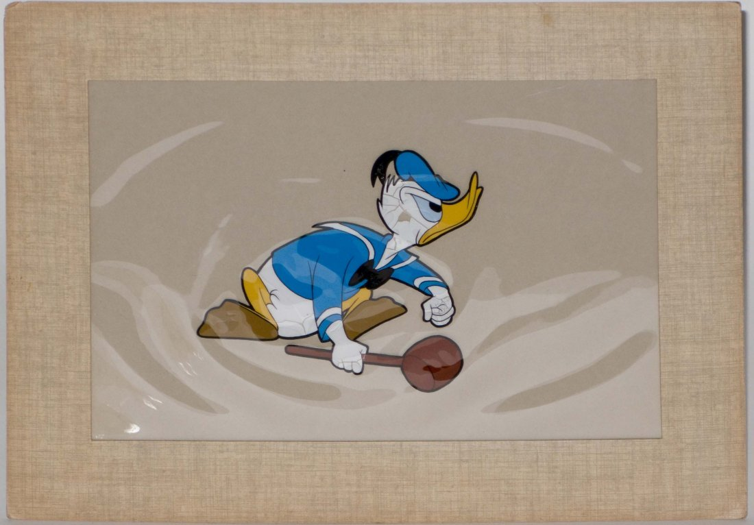 Donald Duck 1950s Gold Seal Animation Cell