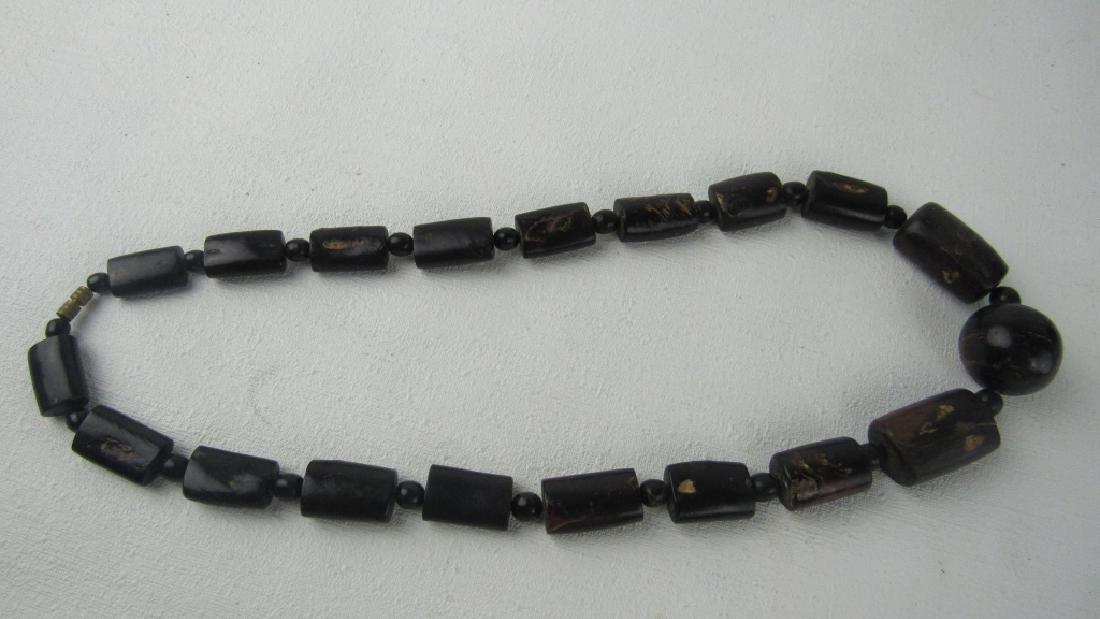 Dark Coral Bead Necklace - 8