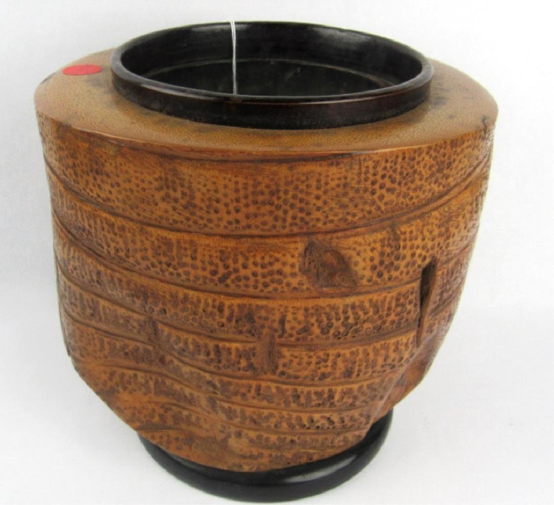 Very Old Bamboo Vase - 4
