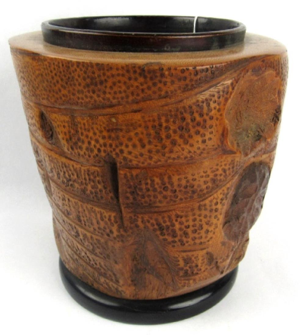 Very Old Bamboo Vase - 6