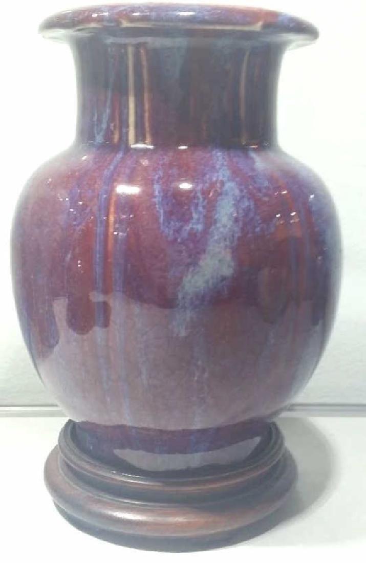 A 17 Century Chinese Flambe-Glazed Vase - 2