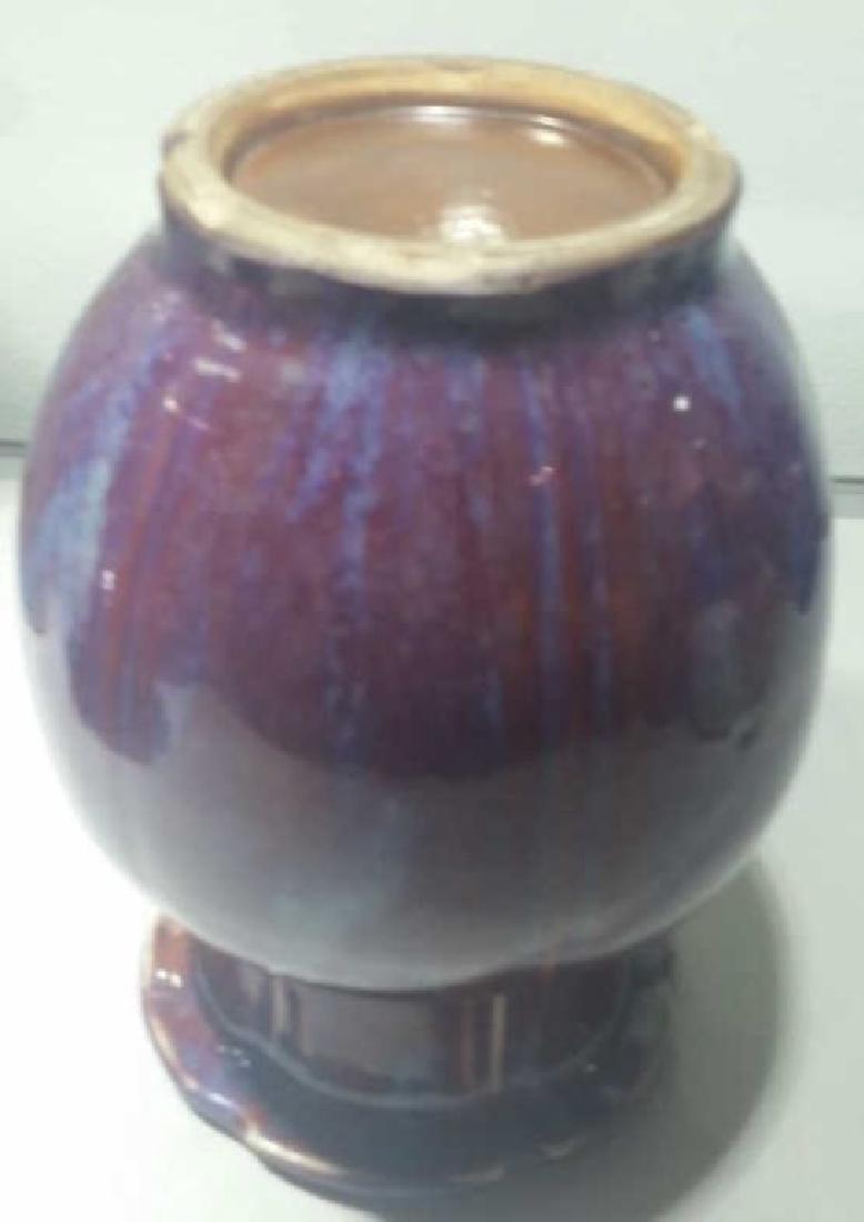 A 17 Century Chinese Flambe-Glazed Vase - 3