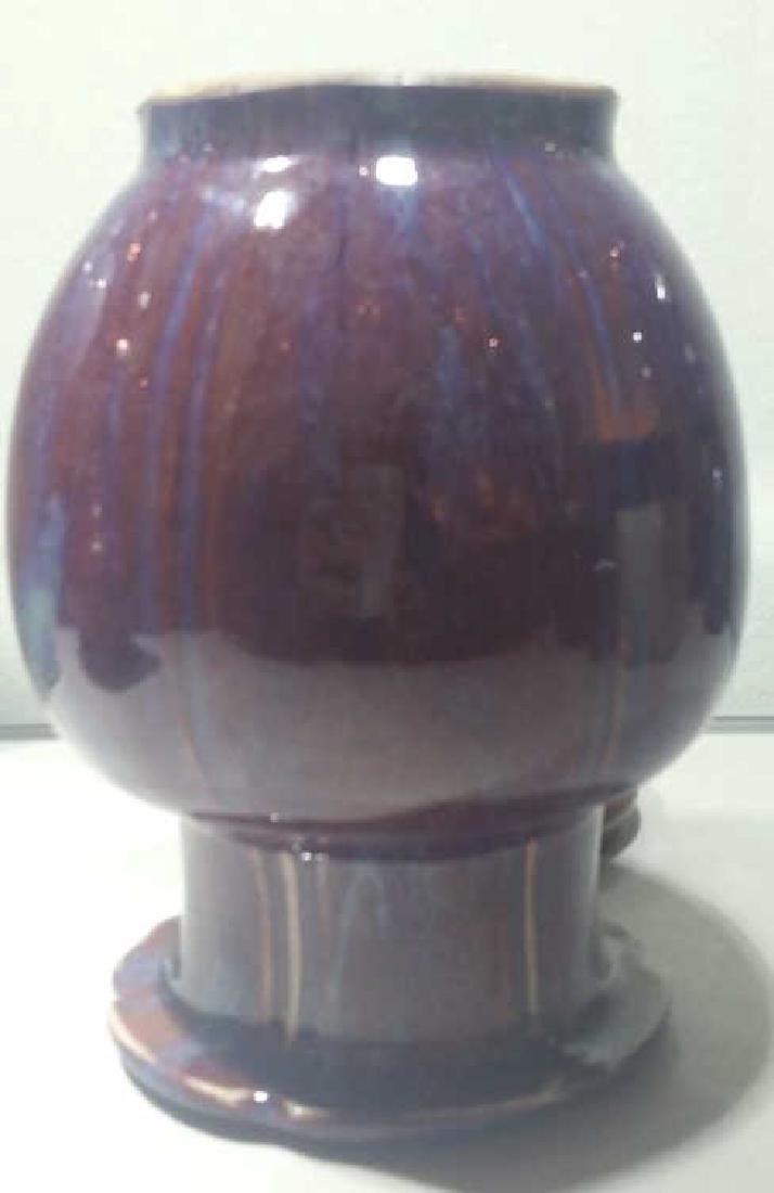 A 17 Century Chinese Flambe-Glazed Vase - 4
