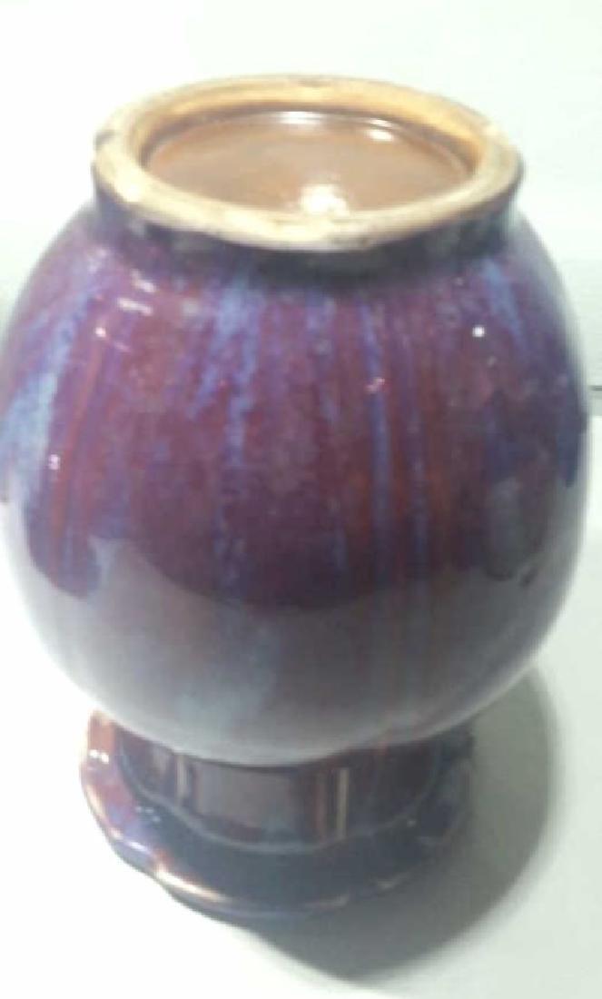 A 17 Century Chinese Flambe-Glazed Vase - 5