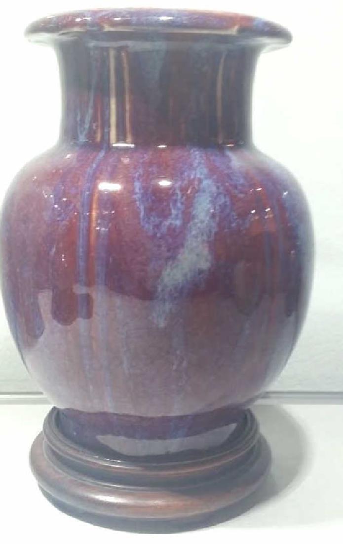 A 17 Century Chinese Flambe-Glazed Vase - 6