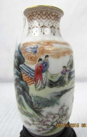 18th Century Chinese Qing Dynasty Cloisonne Vase