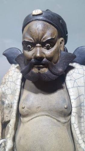 A chinese Crackleglazed Biscuit Figure