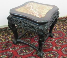 Rosewood Plant Stand w/Marble inlay