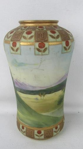 French Nippon Pottery Vase