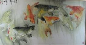 Large Chinese water color Painting