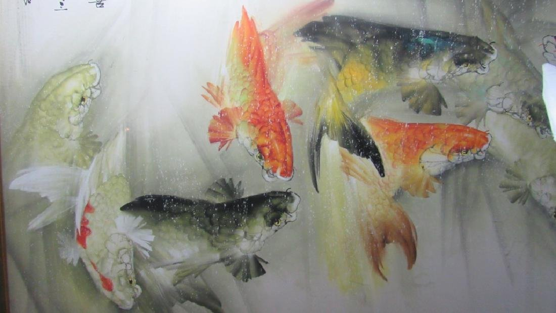 Large Chinese water color Painting - 8