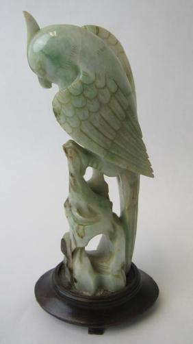 Chinese Jade Bird Statue