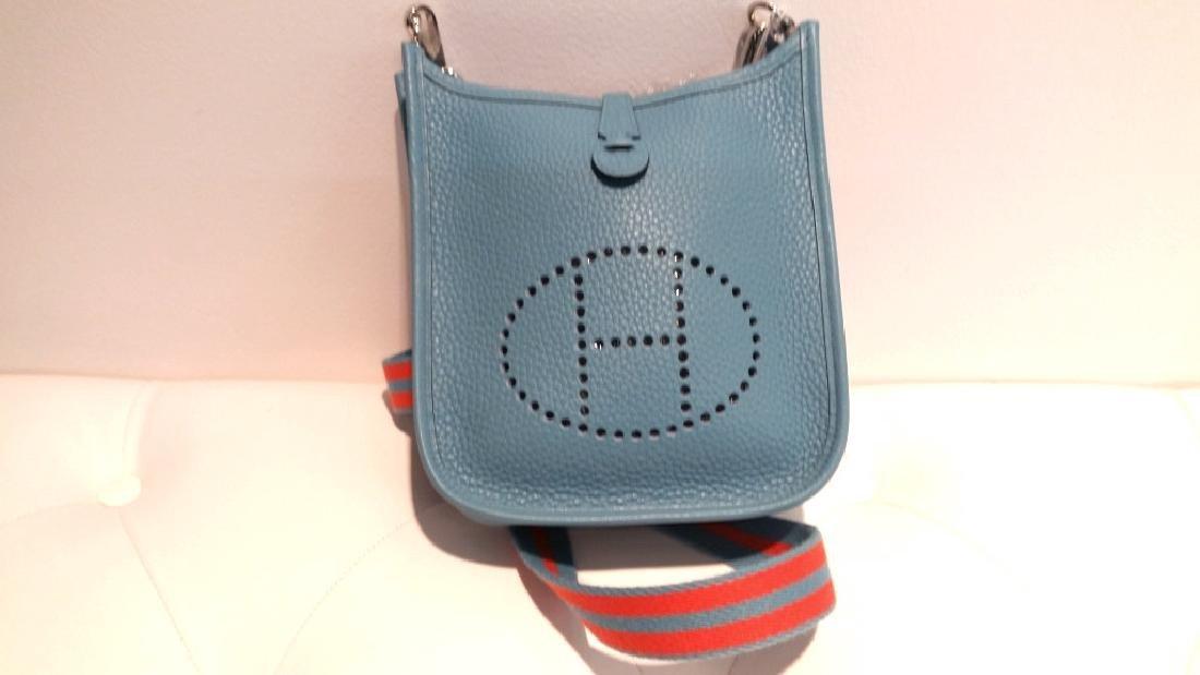 Bleu Saint Cyr Clemence Leather Evelyne TPM Bag