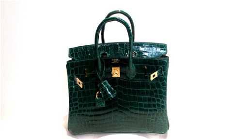 0f552d10566 A Shiny Vert Emeraude Nilo Crocodile Birkin 25 Bag