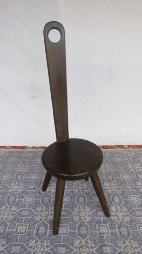 Carved Wood Tong Chair