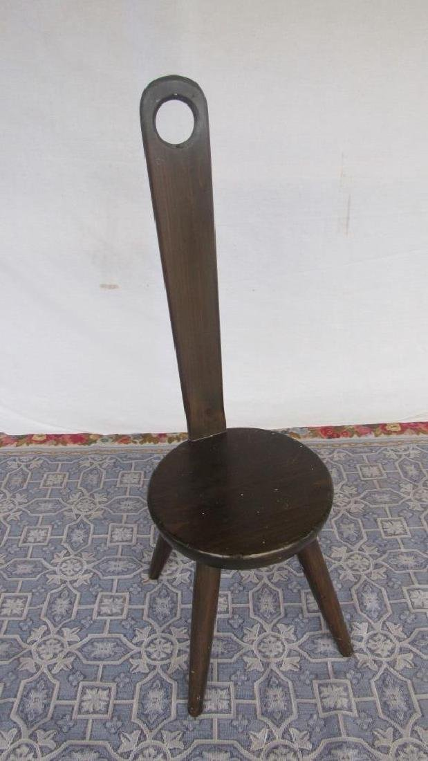 Carved Wood Tong Chair - 2
