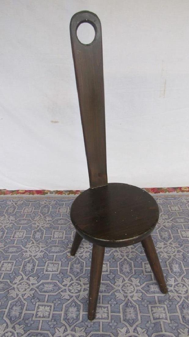 Carved Wood Tong Chair - 3