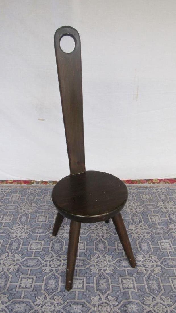 Carved Wood Tong Chair - 5
