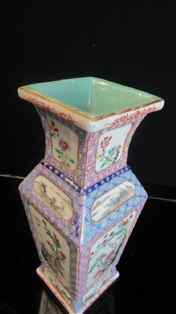 Large Red & Blue Glazed Vase - 7