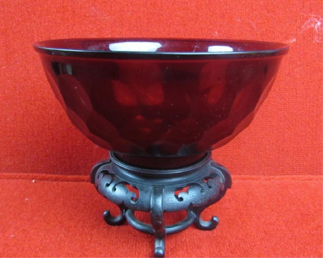 Chinese Peking Glass Bowl
