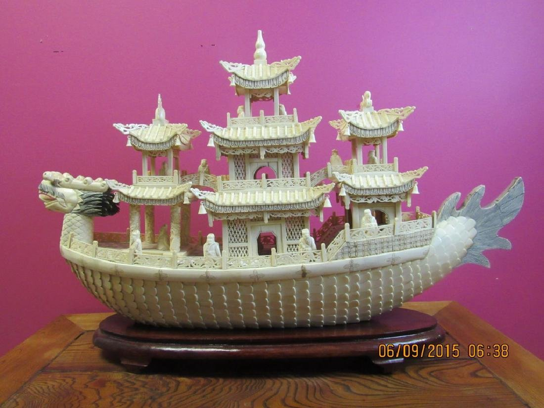 Carved Dragon Ship - 2