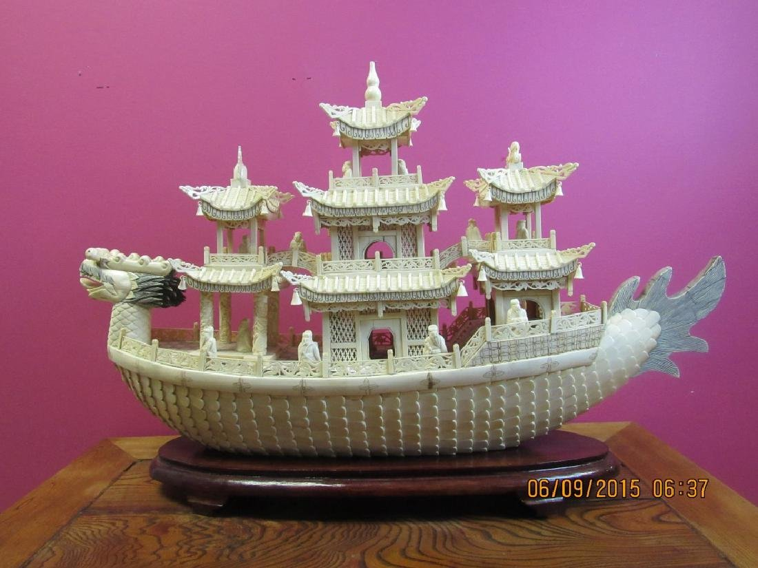 Carved Dragon Ship - 3
