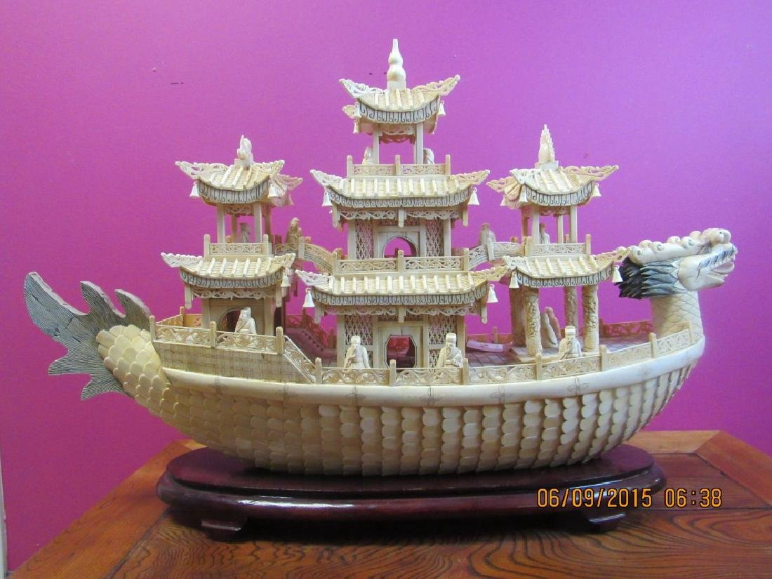 Carved Dragon Ship - 4