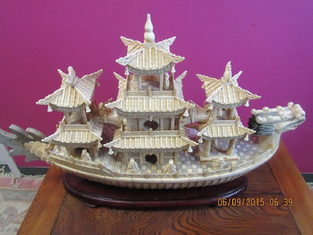 Carved Dragon Ship - 5