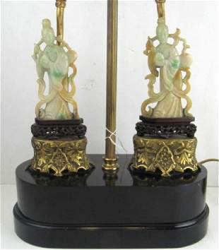 Qing Dynasty Jade Goddess of Mercy Figurine