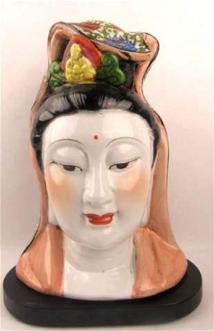 20th Century Quan Yin Bust