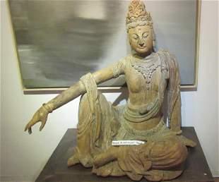 Ming Dynasty Style Wood Guan Yin