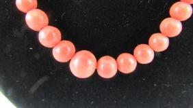 Old Coral Bead Necklace