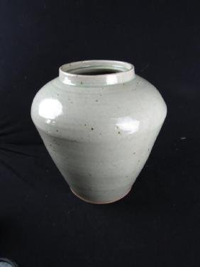 Very Old Glazed Pottery Water Vessel