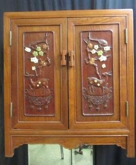 Chinese Rosewood cabinet with drawer